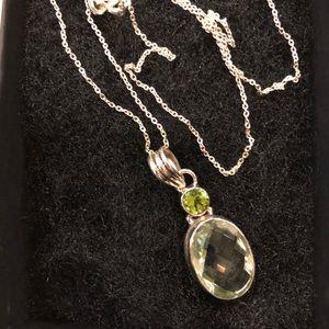 Green amethyst/peridot necklace